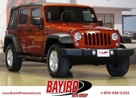 2014 Jeep Wrangler Unlimited for sale at Bayird Pre-Owned Supercenter of Jonesboro in Jonesboro AR