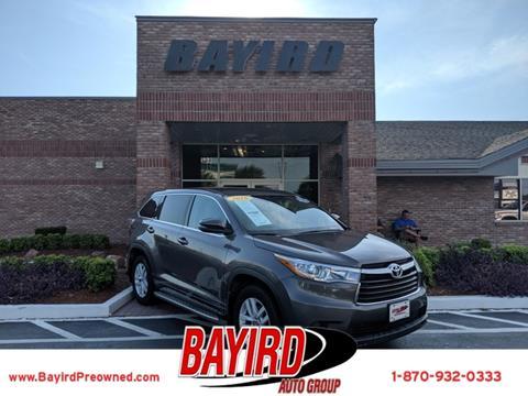Toyota Jonesboro Ar >> 2016 Toyota Highlander For Sale In Jonesboro Ar