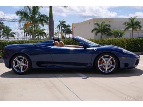 2001 Ferrari 360 Spider for sale at The New Auto Toy Store in Fort Lauderdale FL