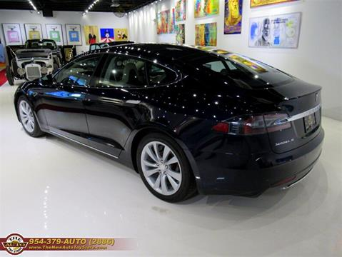 2014 Tesla Model S for sale at The New Auto Toy Store in Fort Lauderdale FL