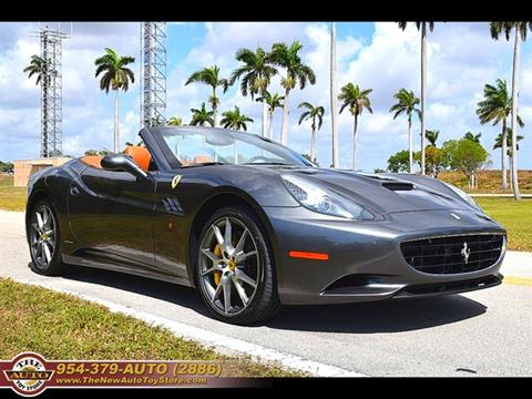 2012 Ferrari California for sale at The New Auto Toy Store in Fort Lauderdale FL