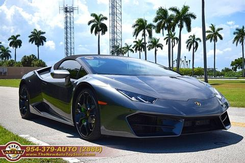 2018 Lamborghini Huracan for sale at The New Auto Toy Store in Fort Lauderdale FL