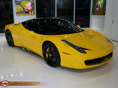 2012 Ferrari 458 Italia for sale at The New Auto Toy Store in Fort Lauderdale FL