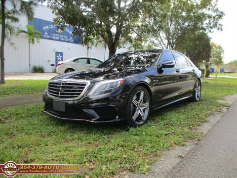 2015 Mercedes-Benz S-Class for sale at The New Auto Toy Store in Fort Lauderdale FL