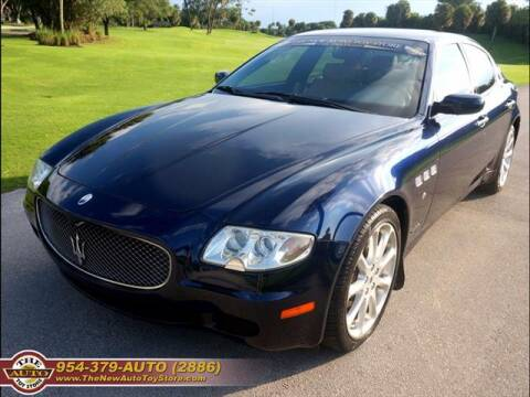 2008 Maserati Quattroporte for sale at The New Auto Toy Store in Fort Lauderdale FL