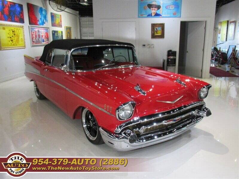 1957 Chevrolet Bel Air for sale at The New Auto Toy Store in Fort Lauderdale FL