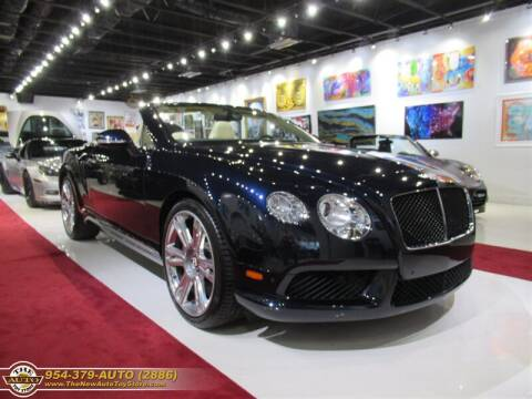 2014 Bentley Continental for sale at The New Auto Toy Store in Fort Lauderdale FL