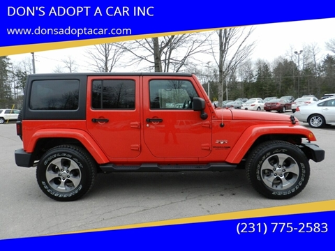 2018 Jeep Wrangler Unlimited for sale in Cadillac, MI