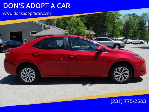 2019 Toyota Corolla for sale at DON'S ADOPT A CAR in Cadillac MI
