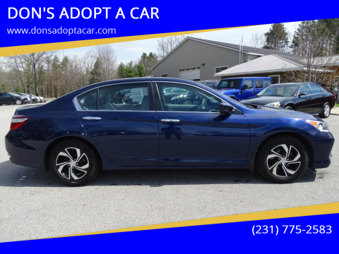 2017 Honda Accord for sale at DON'S ADOPT A CAR in Cadillac MI