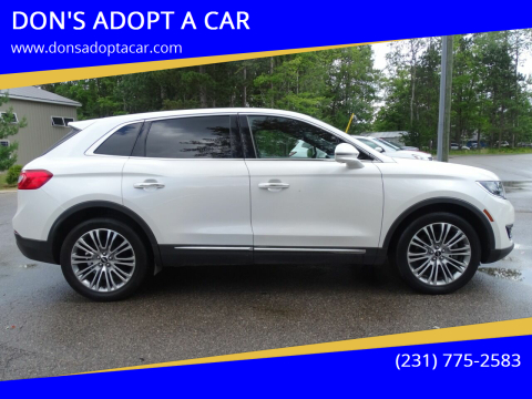 2016 Lincoln MKX for sale at DON'S ADOPT A CAR in Cadillac MI