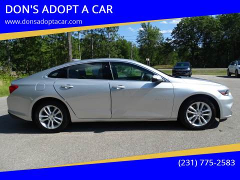 2018 Chevrolet Malibu for sale at DON'S ADOPT A CAR in Cadillac MI