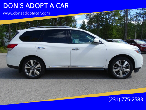 2013 Nissan Pathfinder for sale at DON'S ADOPT A CAR in Cadillac MI