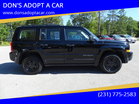 2016 Jeep Patriot for sale at DON'S ADOPT A CAR in Cadillac MI