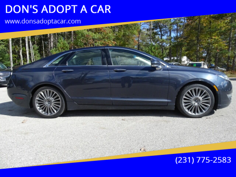 2013 Lincoln MKZ for sale at DON'S ADOPT A CAR in Cadillac MI