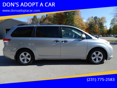 2011 Toyota Sienna for sale at DON'S ADOPT A CAR in Cadillac MI