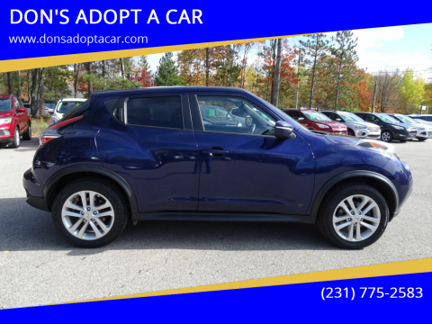 2015 Nissan JUKE for sale at DON'S ADOPT A CAR in Cadillac MI