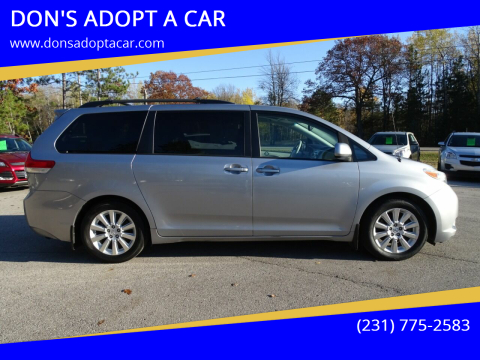 2013 Toyota Sienna for sale at DON'S ADOPT A CAR in Cadillac MI