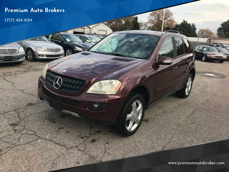 2006 Mercedes Benz M Class Awd Ml 350 4matic 4dr Suv In Virginia