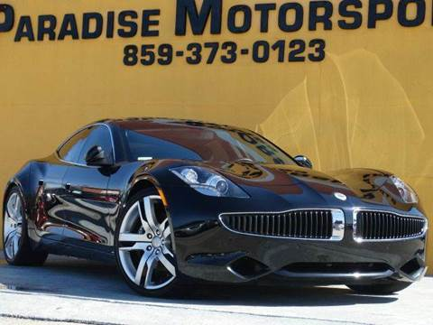 2012 Fisker Karma for sale at Paradise Motor Sports LLC in Lexington KY