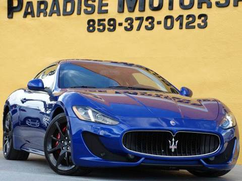 2013 Maserati GranTurismo for sale at Paradise Motor Sports LLC in Lexington KY