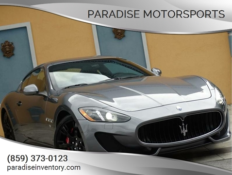 2014 Maserati GranTurismo for sale at Paradise Motor Sports LLC in Lexington KY