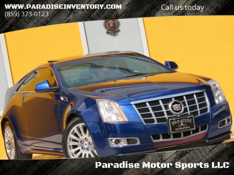 2013 Cadillac CTS for sale at Paradise Motor Sports LLC in Lexington KY
