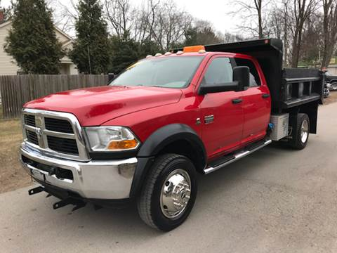2011 Dodge Ram 4500 quad cab dump truck for sale at ALL Motor Cars LTD in Tillson NY