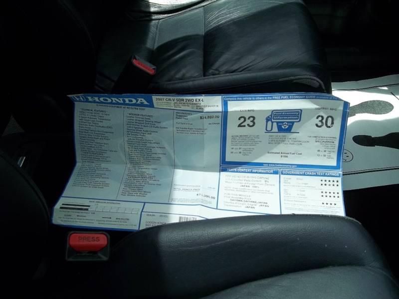 2007 Honda CR-V EX-L 4dr SUV - Jacksonville FL