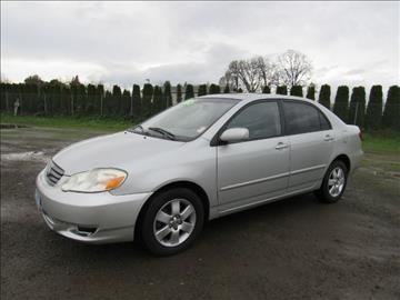 2004 Toyota Corolla for sale at Triple C Auto Brokers in Washougal WA
