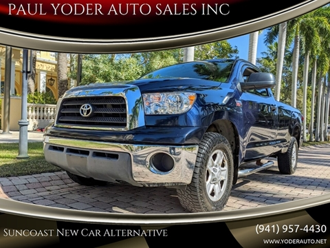 2008 Toyota Tundra Grade for sale at PAUL YODER AUTO SALES INC in Sarasota FL
