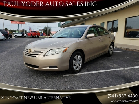 2007 Toyota Camry LE V6 for sale at PAUL YODER AUTO SALES INC in Sarasota FL
