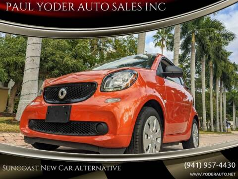 2018 Smart fortwo electric drive pure for sale at PAUL YODER AUTO SALES INC in Sarasota FL