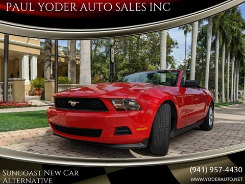 2011 Ford Mustang V6 for sale at PAUL YODER AUTO SALES INC in Sarasota FL