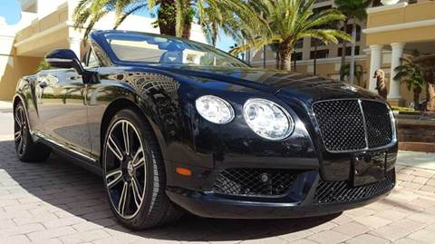 2013 Bentley Continental GTC V8 for sale at PAUL YODER AUTO SALES INC in Sarasota FL