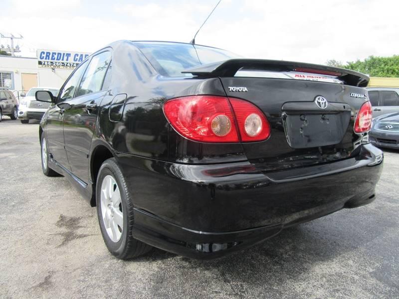 2008 Toyota Corolla S 4dr Sedan 4A - Miami FL