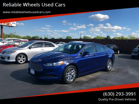 2016 Ford Fusion for sale at Reliable Wheels Used Cars in West Chicago IL