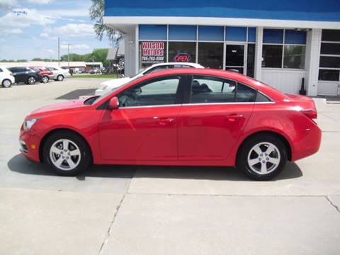 2015 Chevrolet Cruze for sale at Wilson Motors in Junction City KS