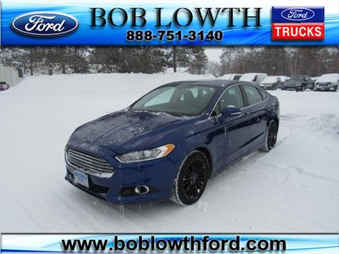 Bob Lowth Ford >> 2016 Ford Fusion For Sale In Bemidji Mn