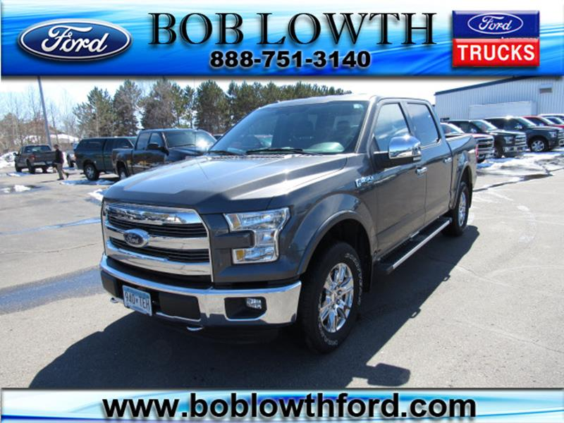 Bob Lowth Ford >> 2015 Ford F 150 Lariat In Bemidji Mn Bob Lowth Ford