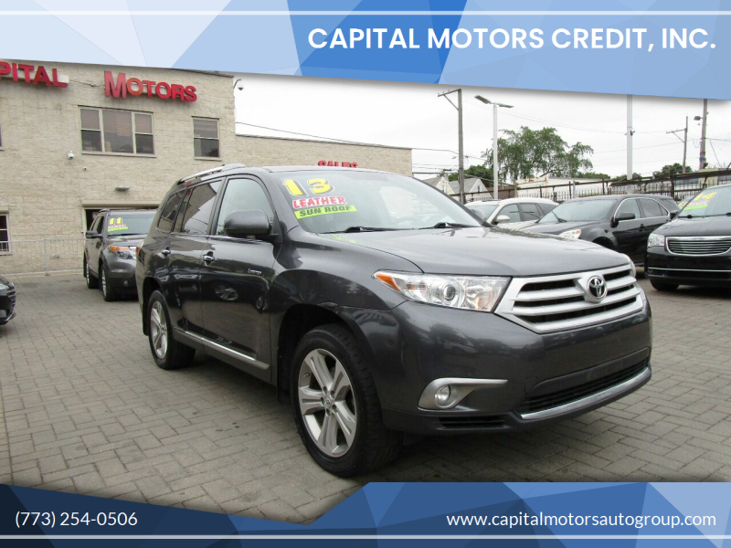 2013 Toyota Highlander for sale at Capital Motors Credit, Inc. in Chicago IL