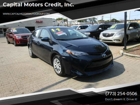 2017 Toyota Corolla for sale at Capital Motors Credit, Inc. in Chicago IL