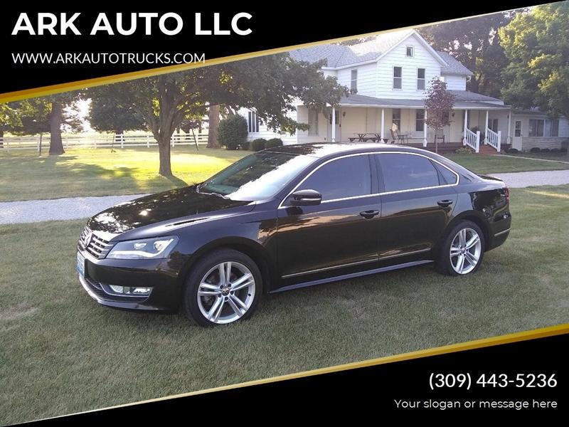 2014 Volkswagen Passat for sale at ARK AUTO LLC in Roanoke IL