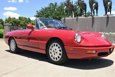 Alfa Romeo Spider For Sale In Fort Worth TX Carsforsalecom - 1994 alfa romeo spider