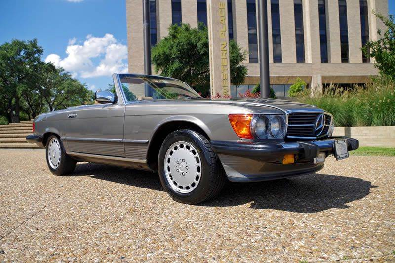 1988 Mercedes-Benz 560-Class for sale at European Motor Cars LTD in Fort Worth TX