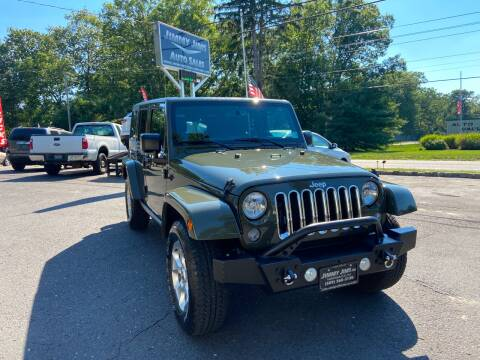 2015 Jeep Wrangler Unlimited for sale at Jimmy Jims Auto Sales in Tabernacle NJ