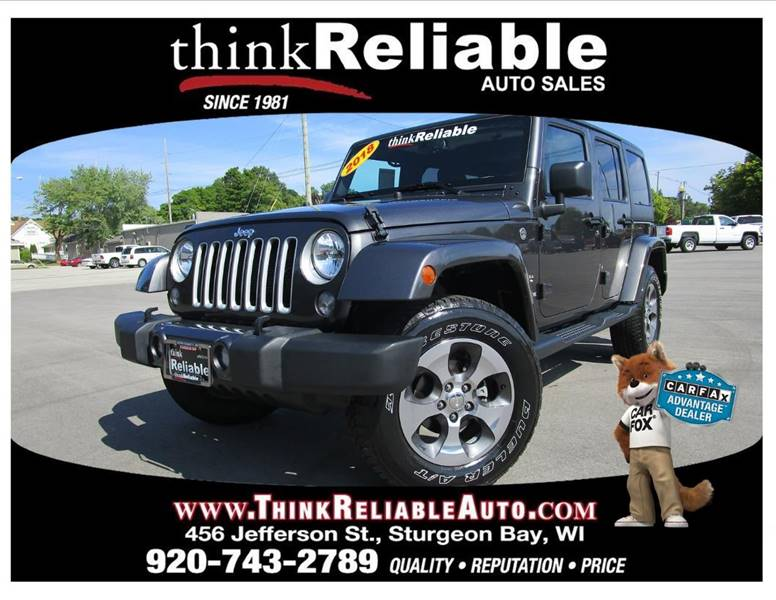 2018 Jeep Wrangler Unlimited 4x4 Sahara 4dr SUV   Sturgeon Bay WI