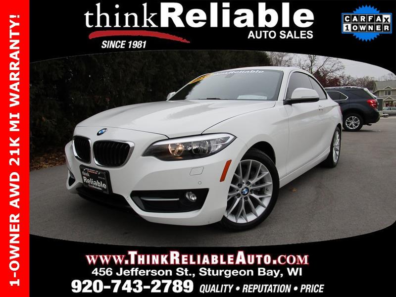 2016 Bmw 2 Series Awd 228i Xdrive 2dr Coupe Sulev In Sturgeon Bay Wi