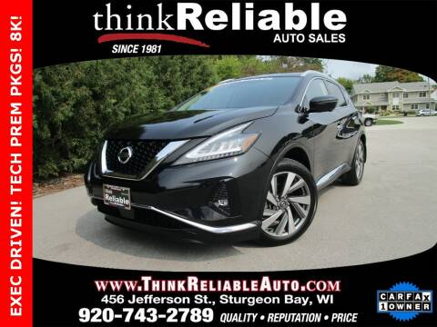 2019 Nissan Murano for sale at RELIABLE AUTOMOBILE SALES, INC in Sturgeon Bay WI
