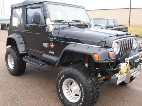 1998 Jeep Wrangler for sale at SCHUMACHER AUTO SALES & SERVICE in Park Falls WI